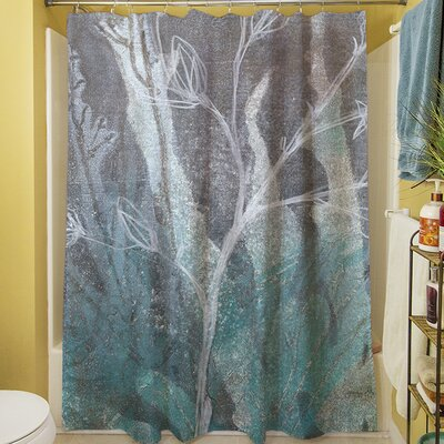 Ombre Wildflowers IV Shower Curtain