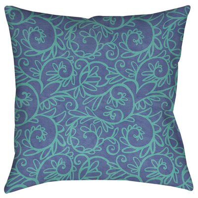 Funky Florals Swirl Pattern Indoor/Outdoor Throw Pillow Size: 18