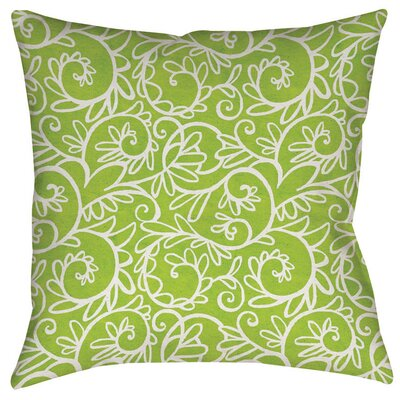 Sandefur Pattern Indoor/Outdoor Throw Pillow Size: 18 H x 18 W x 5 D, Color: Green