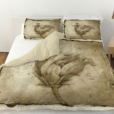 Floral Impression 8 Duvet Cover Size: Queen
