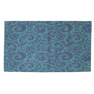 Funky Florals Swirl Area Rug Rug Size: 4 x 6