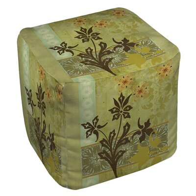 Collage Blossoms Ottoman