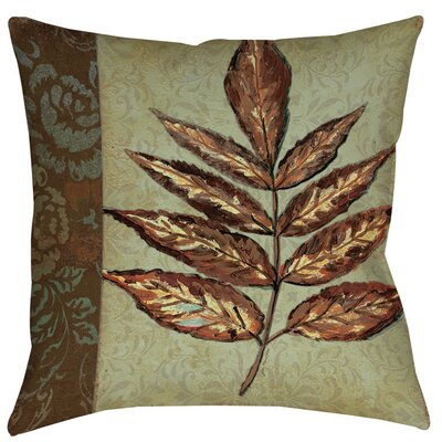 Golden Leaf 2 Printed Throw Pillow Size: 16 H x 16 W x 4 D