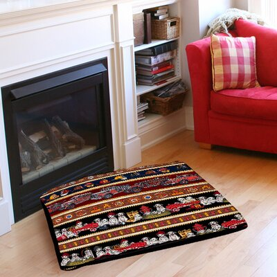 Fire House Stripe Pet Bed Size: 28 L x 18 W