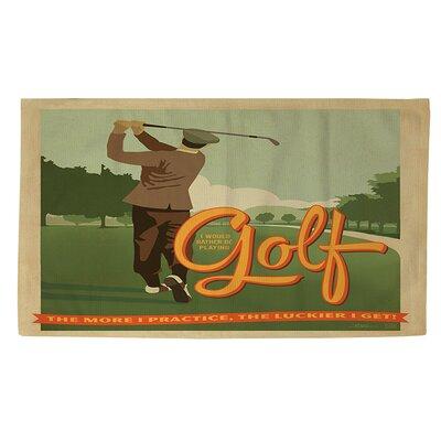 Golf Bad Day Area Rug Rug Size: 2 x 3