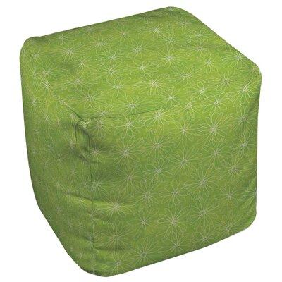 Funky Daisy Sketch Pouf Upholstery: Lime