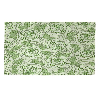 Rose Tonic Green Area Rug Rug Size: 4 x 6