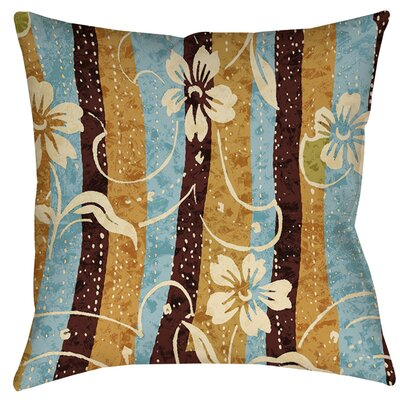 Floral Study in Stripes Indoor/Outdoor Throw Pillow Size: 18 H x 18 W x 5 D