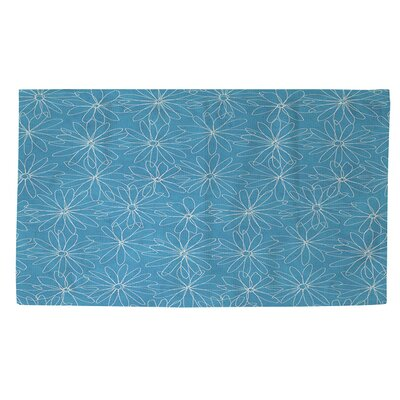 Funky Florals Daisy Sketch Area Rug Rug Size: 4 x 6