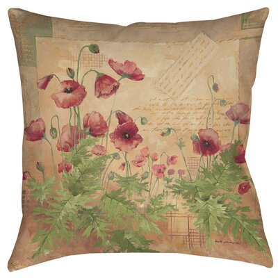 Floral 1 Indoor/Outdoor Throw Pillow Size: 16 H x 16 W x 4 D
