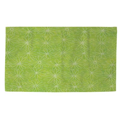 Funky Florals Daisy Sketch Lime Area Rug Rug Size: 4 x 6