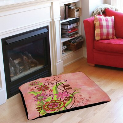 Flower Power Stems Pet Bed Size: 50 L x 40 W
