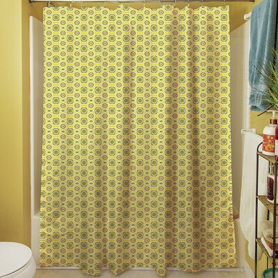 Funhouse Shower Curtain Color: Tan