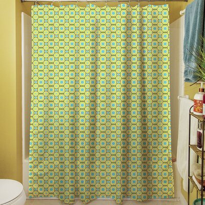 Funhouse Shower Curtain Color: Green