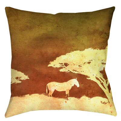 Safari Sunrise 3 Printed Throw Pillow Size: 18 H x 18 W x 5 D