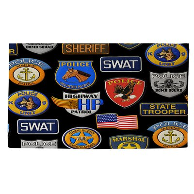 Police Patches Area Rug Rug Size: 4 x 6