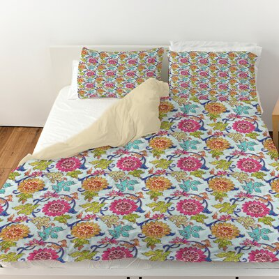Shangri La Leaves Duvet Cover Size: Queen
