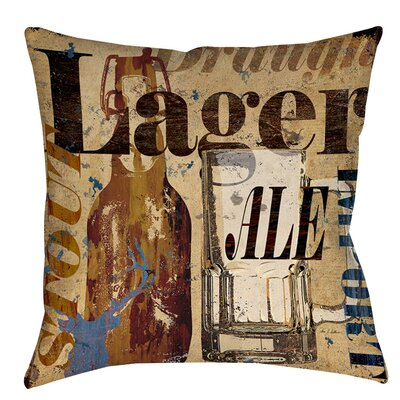 Old Lager Indoor/Outdoor Throw Pillow Size: 16 H x 16 W x 4 D