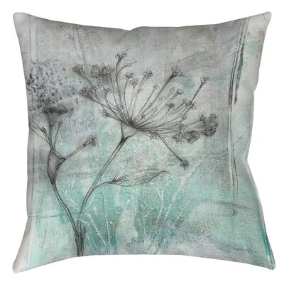 Ombre Wildflowers 1 Printed Throw Pillow Size: 16 H x 16 W x 4 D