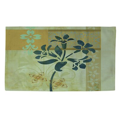 Collage Blossoms Blue Area Rug Rug Size: 4 x 6