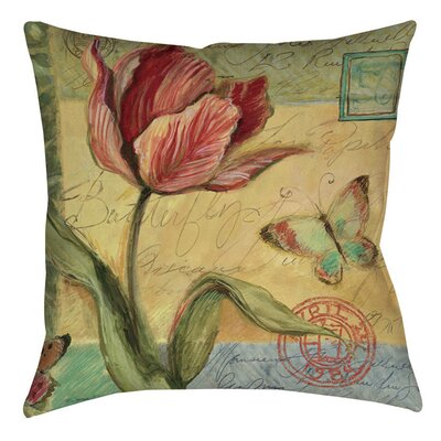 Loretta Tulip Indoor/Outdoor Throw Pillow Size: 16 H x 16 W x 4 D