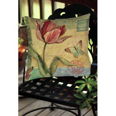 Loretta Tulip Indoor/Outdoor Throw Pillow Size: 18 H x 18 W x 5 D