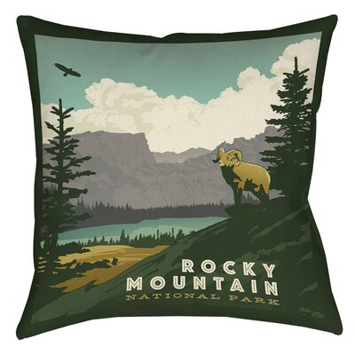 Rocky Mountain National Park Printed Throw Pillow Size: 18 H x 18 W x 5 D