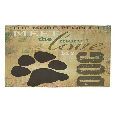 People vs Dog Area Rug Rug Size: 2 x 3