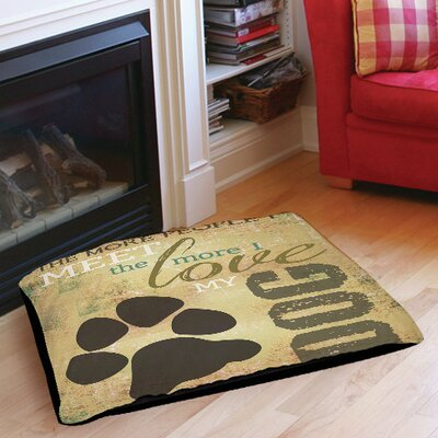 People vs Dog Indoor/Outdoor Pet Bed Size: 28 L x 18 W