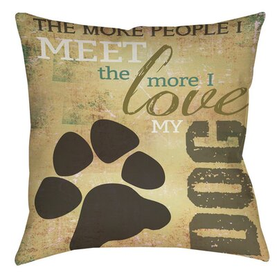 People vs Dog Indoor/Outdoor Throw Pillow Size: 18 H x 18 W x 5 D
