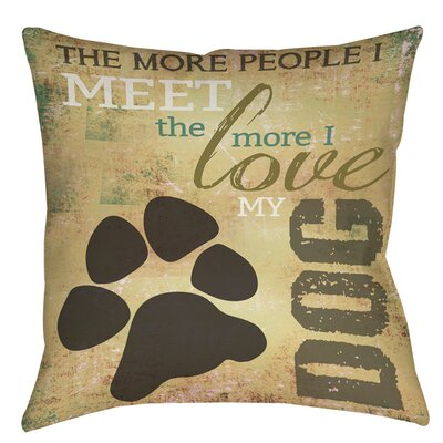 People vs Dog Printed Throw Pillow Size: 16 H x 16 W x 4 D