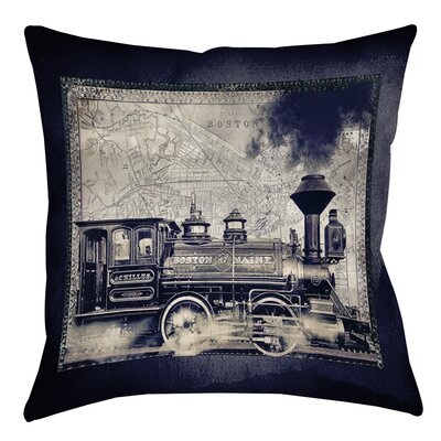 Railway Beantown Printed Throw Pillow Size: 18 H x 18 W x 5 D