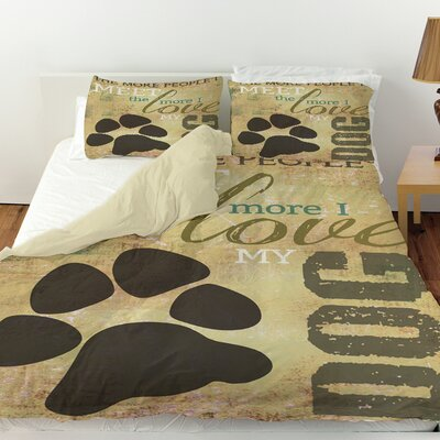 People vs Dog Duvet Cover Size: King