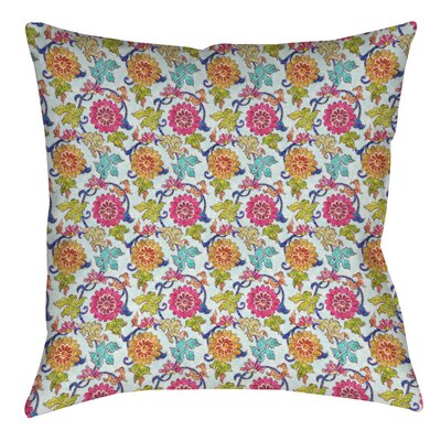 Shangri La Leaves Indoor/Outdoor Throw Pillow Size: 20