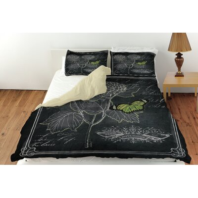 Chalkboard Botanical 1 Duvet Cover Collection