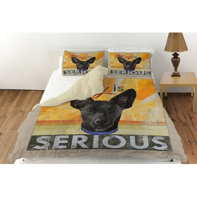Dog Days - Little Black Pup Duvet Cover Collection