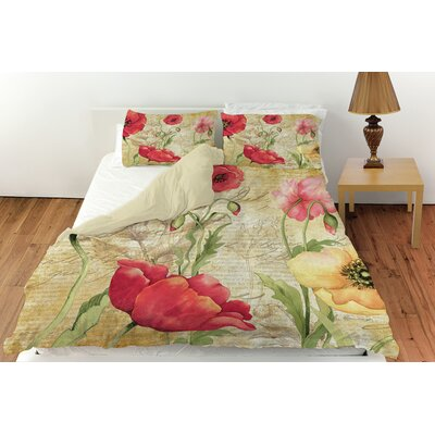 Large Poppy Heads Duvet Cover Collection
