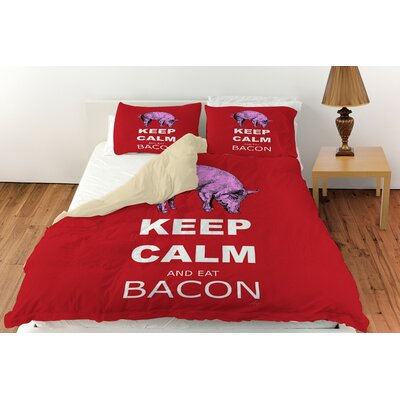 Keep Calm and Eat Bacon Duvet Cover Collection