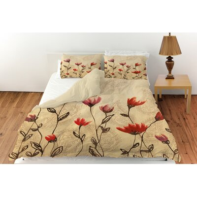 Floral Paisley Stems Duvet Cover Collection