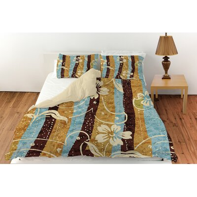 Floral Study in Stripes Duvet Cover Collection