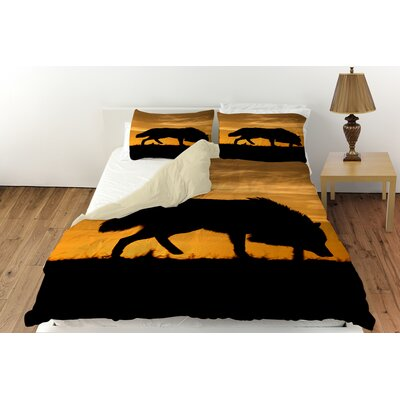 Wolf Silhouette Duvet Cover Collection