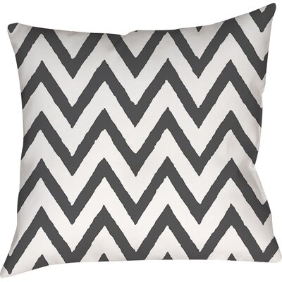 Zig Zag Printed Throw Pillow Size: 16 H x 16 W x 4 D, Color: Gray