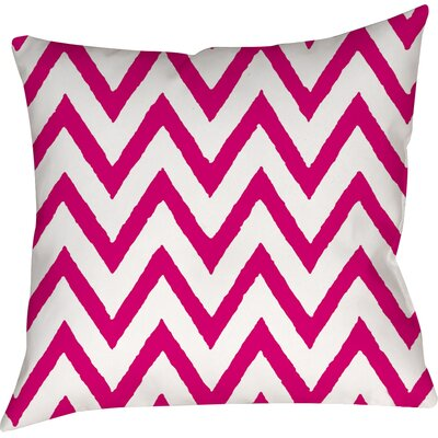 Zig Zag Printed Throw Pillow Size: 26 H x 26 W x 7 D, Color: Pink