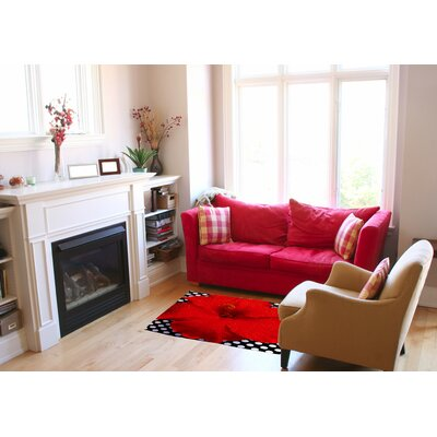 Red Area Rug Rug Size: 2 x 3