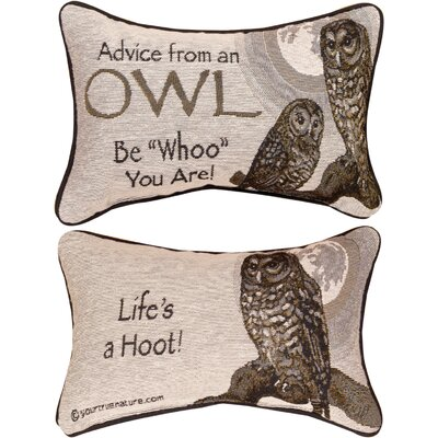 Advice from a Owl Word Lumbar Pillow