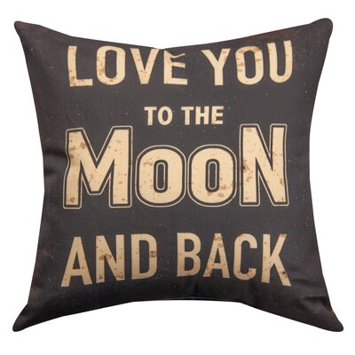 Love You to the Moon and Back Cotton Throw Pillow
