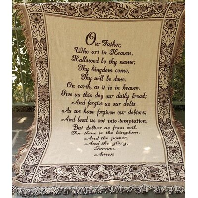 The Lords Prayer 2 Layer Cotton Throw