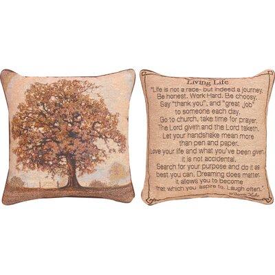 Living Life Throw Pillow