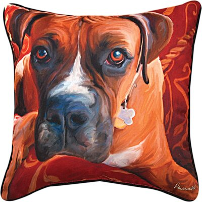 Harry Boxer Throw Pillow