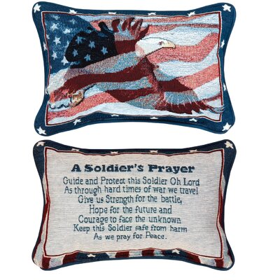 A Soldiers Prayer Word Lumbar Pillow